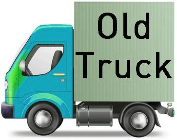 משאית ישנה לפירוק
